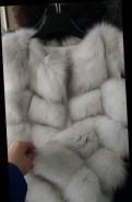 Жилекти кубики мех песец 90 см (белая ), Бокситогорск