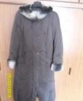 Продам пальто коричневое зимнее 54-56 размера