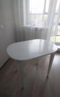 Продам кухонный стол, массив березы, белый