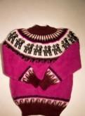 Яркий пушистый свитер из Перу из шерсти альпаки