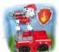 Щенячий патруль машинка со звуком красного цвета