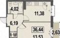 1-к квартира, 64. 5 м², 5/10 эт