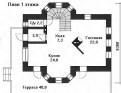 Коттедж 120. 9 м² на участке 5.8 сот