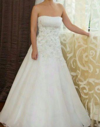 Свадебное платье и шубка 42-44