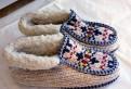 Уютные вязаные тапочки размера 39-40, женские резиновые тапочки цена
