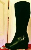 Сапоги кожа+замша, еврозима, обувь женская tuffoni