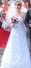 Кружевное свадебное платье А-силуэта. От 48р, что значит когда сниться девушка в свадебном платье