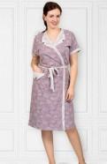Комплект женский - Халат, сорочка-100 хлопок, халат женский на пуговицах купить в недорого