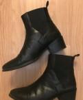 Кожанные ботинки (38, 5 р/р), женские валяные тапочки