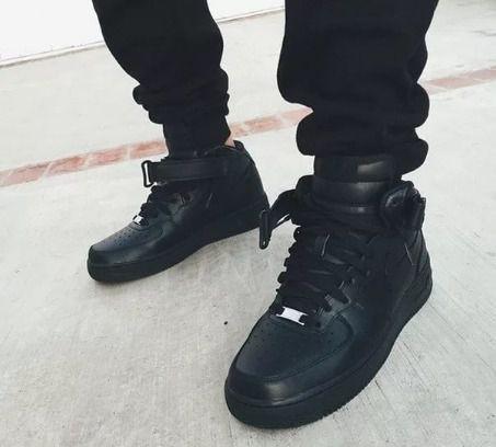 200d4544b Nike Air Force Black High, зимняя обувь 46 размера мужская, Санкт ...