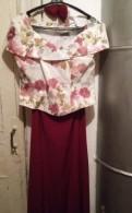 Новый праздничный костюм (корсет и юбка в пол), норковые шубы пром