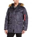 Купить мужской костюм в wessi, куртка Аляска N-3B Slim-Fit США Стальная синия M