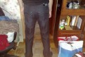 Вязаные мужские свитера в полоску, стильные джинсы на рост 1.87