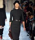 Стильное черное облегающее платье Victoria Beckham, модели женских костюмов из трикотажа