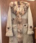 Пальто с натуральным мехом, спортивные штаны распродажа