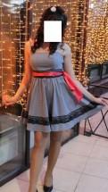 Трикотажное платье с фатином, платье для выпускного бала