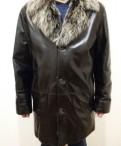 Мужская куртка кожаная на натуральном меху, мужские носки caramella