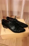 Ботинки, черные туфли на танкетке с ремешком купить