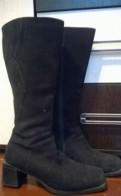 Сапоги зимние замшевые б/у, женская обувь шанель, Бокситогорск