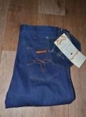 Купить плащ мужской с капюшоном, джинсы Maverick Blue Bell W34 L32, 70е, Made in US