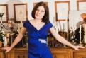 Свадебное платье елены бушиной, короткое ярко синее атласное платье. Новое