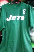 Куртки зимние больших размеров купить, футболка 6 Sanchez NFL New York Jets новая