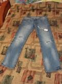 Купить мужскую кожаную куртку весна, джинсы Премиум Деним. Новые