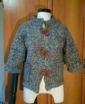 Вязаный короткий кардиганчик, брюки утепленные бундесвер