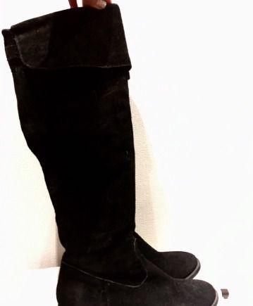 Сапоги осень/весна (нат. замша) Tamaris, calvin klein обувь купить онлайн