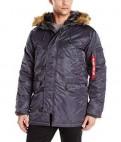 Куртка Аляска N-3B Slim-Fit США Стальная синия M, интернет магазин обуви