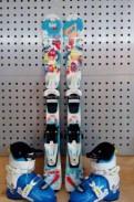 Детские горные лыжи + ботинки, Виллози