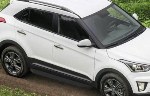 Порог-площадка Black rival на Hyundai Creta 2016