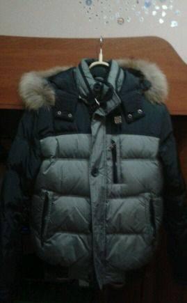Мужское пальто 42 размер, пуховик