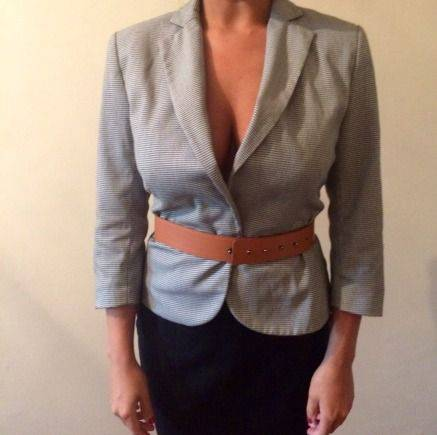 Одежда натальи гончаровой, пиджак с ремнём