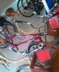 Классический дорожный велосипед женский с корзиной