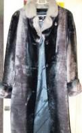 Мутоновая шуба 40-42, одежда больших размеров на люсиновской