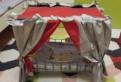 Кроватка для куклы с балдахином красная Gulliver