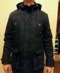 Куртка мужская весенняя черная, парка