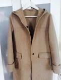 Бежевое Пальто Zara р. S новое, кофта мужская без молнии