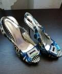 Туфли, сапоги, ботильоны на толстом каблуке со шнуровкой