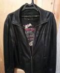 Кожаная куртка, свитшот с цветочным принтом