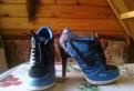 Кроссовки на каблуке, кроссовки reebok classic leather white navy blue