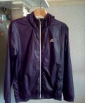 Куртка Adidas, кожаная куртка с меховым капюшоном