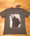 Классная итальянская футболка L, толстовка с капюшоном защитного цвета