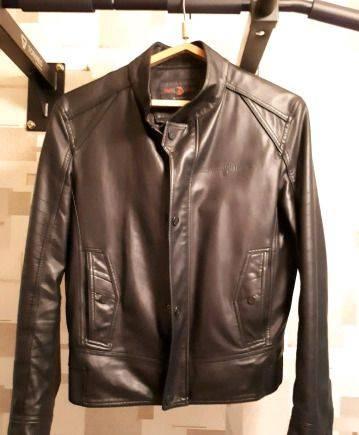 Кожаная куртка мужская. Рост от 170, костюм мужской приталенный в клетку