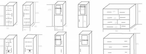 Мебельная стенка, гарнитур, модули: шкафы, комоды