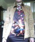 Куртка из искуственной замши, платье в пол на резинке