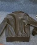 Новая кожаная куртка р-р 42 (XS), купить мужскую кофту большого размера