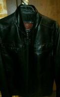 Мужская кожаная куртка, куртка мужская на искусственном меху