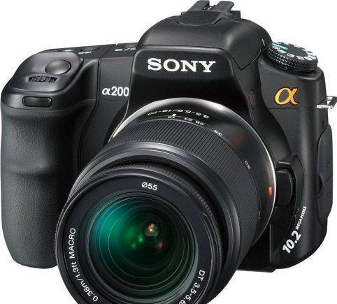 Sony Alpha dslr-A200 Kit